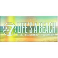 W7 Cosmetics Life's a Beach Metallic Shimmers Eye Colour Palette 9.6gr