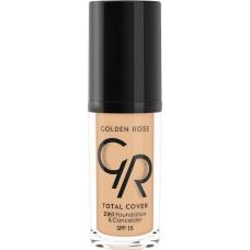Golden Rose Total cover 2in1 Foundation & Concealer Spf15 11 Nude 30ml