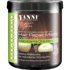 Yanni Extensions Hair Repair Mask with Macadamia Oil & Keratin 1000ml