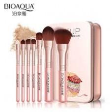 BIOAOUA Ροζ Κασετίνα 7 πινέλα φυσική τρίχα