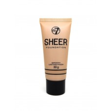 W7 Cosmetics Sheer Foundation Smooth Lasting Finish 02 Sand 30gr