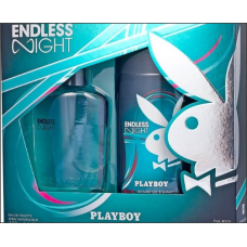 PLAYBOY Endless Night  2pc Gift  Set (Σετ  Δώρου 2 τεμ. 250ml Shower Gel & shampoo, 75ml Αντρικό  Άρωμα)